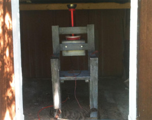 Tesla Coil Electric Chair - Raincloud Arts